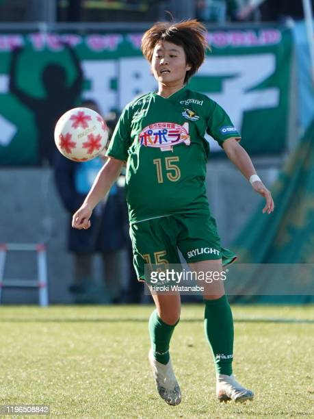 Hinata Miyazawa of Nippon TV Beleza in action during the Empress's Cup JFA 41st Japan Women's Football Championship final between Nippon TV Beleza...