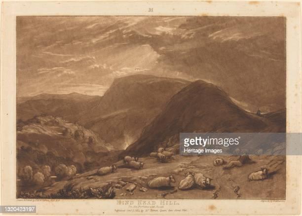 Hind Head Hill, published 1811. Artist JMW Turner.