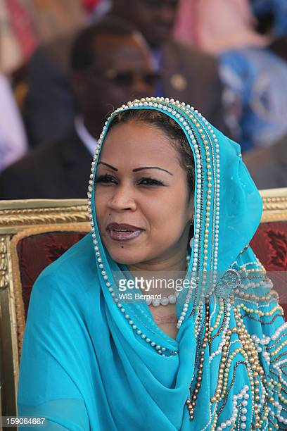 Hinda Deby the wife of the President of Chad sits on a throne on December 19 2012 in Biltine Chad