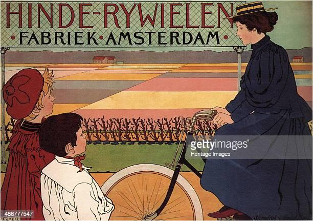 Hinde Rijwielen Fabriek Amsterdam 1896 Artist Caspel Johann Georg van