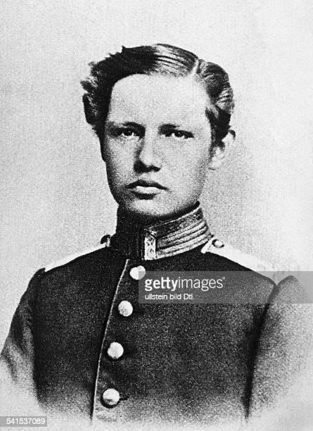 Hindenburg Paul von *02101847Offizier Politiker DGeneralfeldmarschallReichspraesident Portrait als Kadett 1865