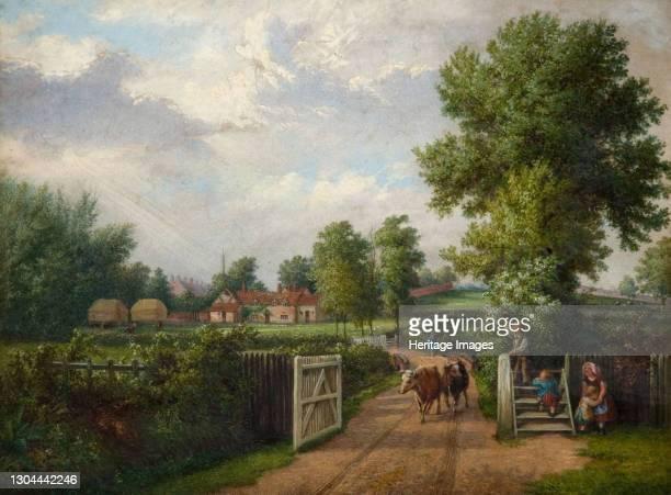 Hind's Farm Sparkhill, Birmingham, 1870s. Artist J. Jolly.