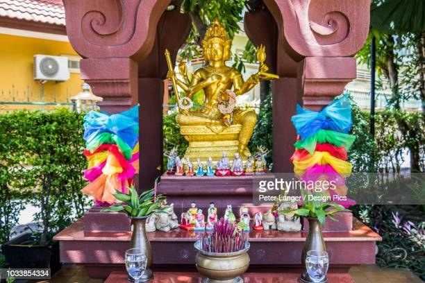 hindu altar - hinduism stock pictures, royalty-free photos & images