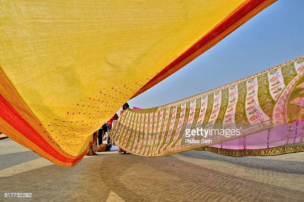 hindu devotee at gangasagar for a holy dip - pilgrimage stock pictures, royalty-free photos & images