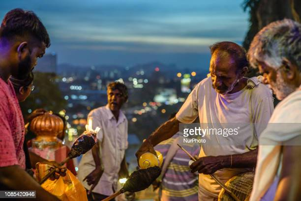 Hindu devotees participate in the Thaipusam festival in Batu Caves Kuala Lumpur Malaysia on January 20 2019