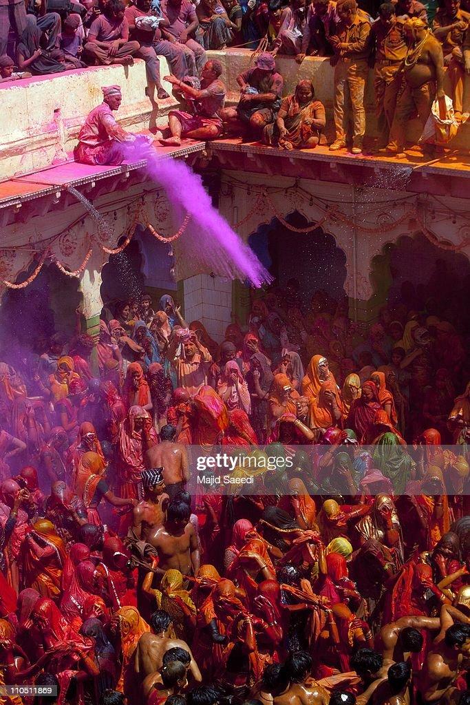 Hindu Devotees Celebrate Holi Festival In India : News Photo
