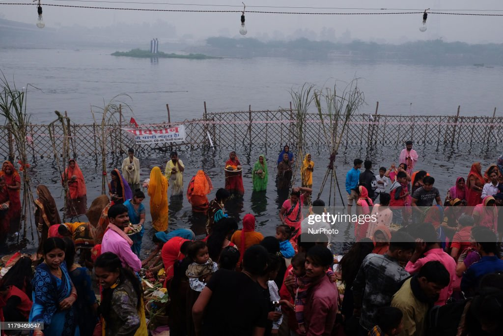 Chhath Puja In New Delhi : News Photo