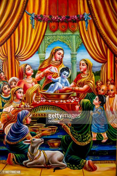 Hindu god Krishna as a baby. Bhaktivedanta manor, Watford, U.K.