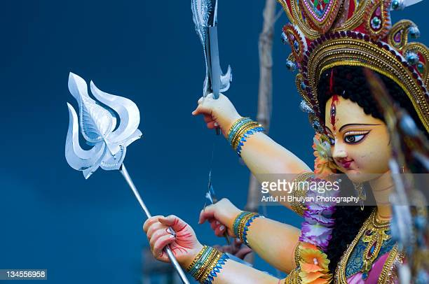 hindu goddess durga - durga stock photos and pictures
