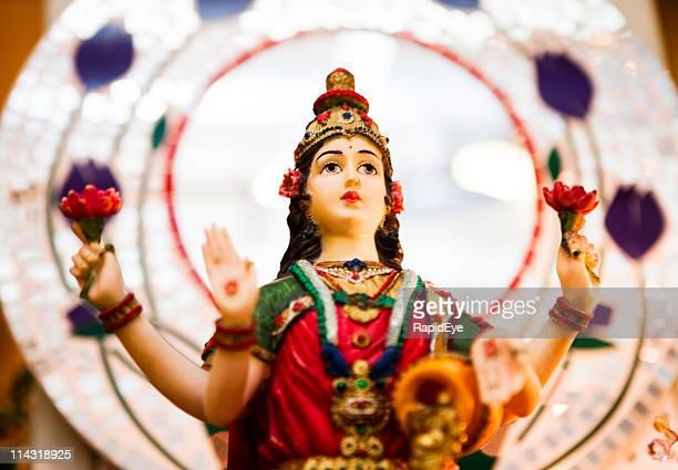 hindu goddess lakshmi - goddess lakshmi stock photos and pictures