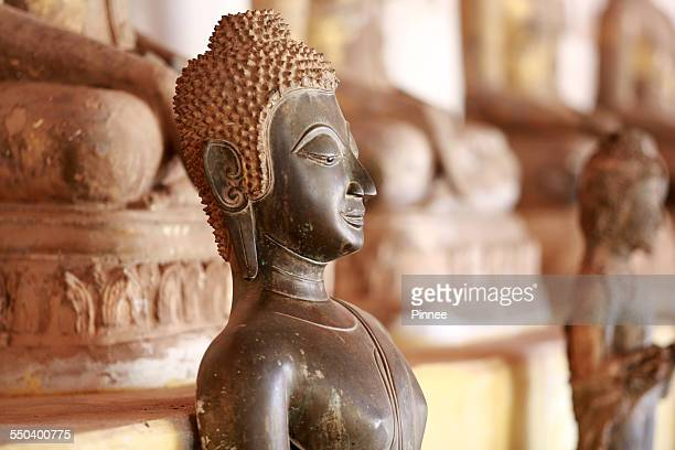 hindu goddess statue at wat sisaket, vientiane - laotian culture stock pictures, royalty-free photos & images