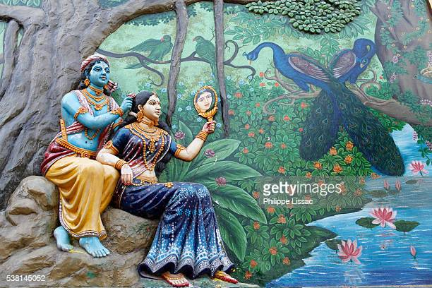 hindu gods krishna and radha - lord krishna stock pictures, royalty-free photos & images