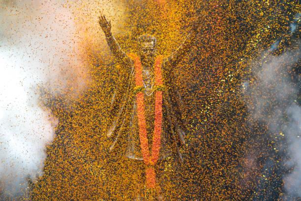 IND: Maharashtra CM Uddhav Thackeray Inaugurates Statue Of Shiv Sena Founder Balasaheb Thackeray At Fort