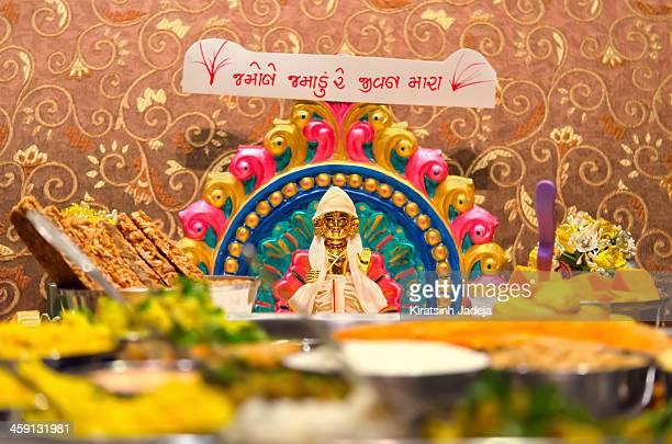 Hindu Idol Being Offered Food