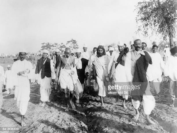 MOHANDAS GANDHI Hindu nationalist and spiritual leader On the Salt March 1930
