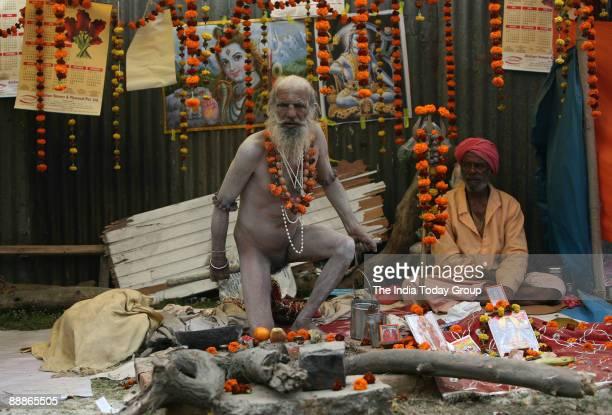 Hindu pilgrims at Ganga Sagar Mela in Kolkata West Bengal India