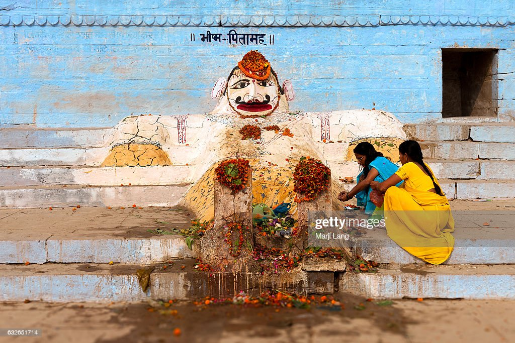 Hindu Pilgrims Making Offerings To Bhishma Pitamah The Statue Is News Photo Getty Images