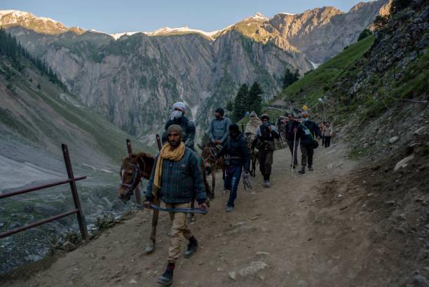 IND: Thousands Of Hindu Pilgrims Take Part In Amarnath Yatra
