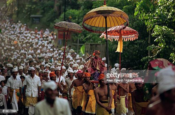 hindu procession, bali, indonesia, southeast asia, asia - palanquin stock photos and pictures