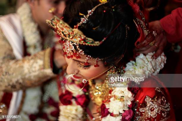 hindu ritual wedding ceremony - hinduism stock pictures, royalty-free photos & images