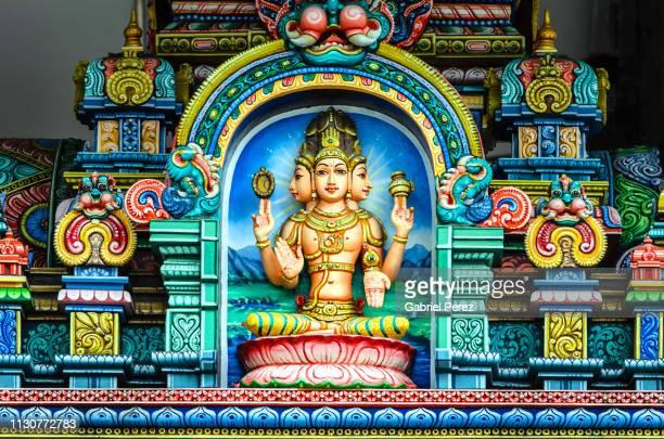 a hindu shrine in bangkok - hinduism bildbanksfoton och bilder