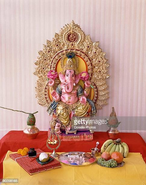 Hindu shrine to Ganesha
