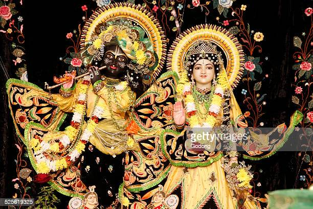 hindu statues - lord krishna stock photos and pictures