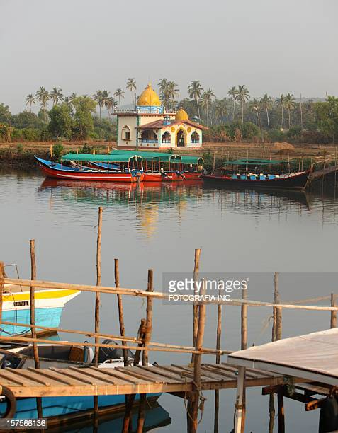 hindu temple in goa - panjim stock photos and pictures