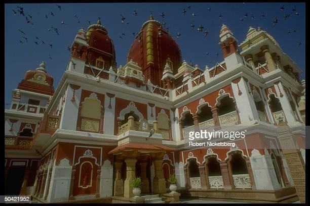 Hindu temple in New Delhi, India.