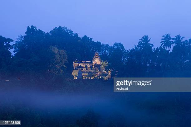 hindu temple mist in ubud bali - ubud district stock pictures, royalty-free photos & images