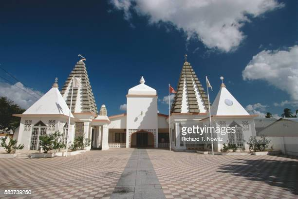 hindu temple - port of spain stock pictures, royalty-free photos & images