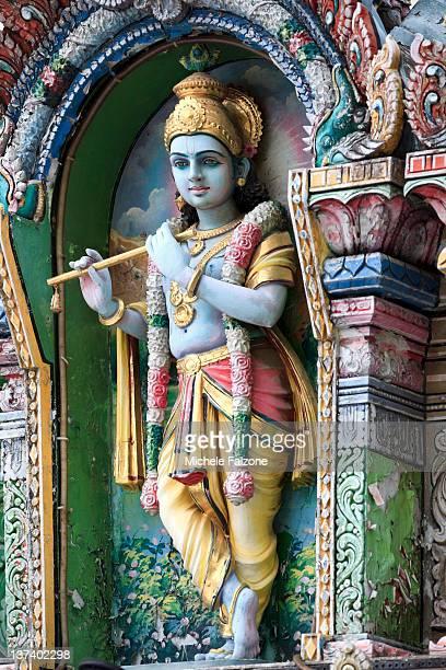 hindu temple, singapore - hindu god stock photos and pictures