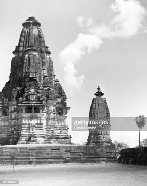 Hindu temple to Vishwanath or Shiva at Khajuraho, Madhya Pradesh, India, 1940s.