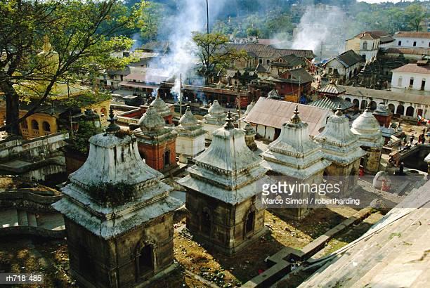 hindu temples at pashupatinath, katmandu, nepal - pashupatinath stock pictures, royalty-free photos & images