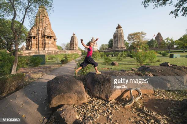 hindu temples - madhya pradesh stock photos and pictures