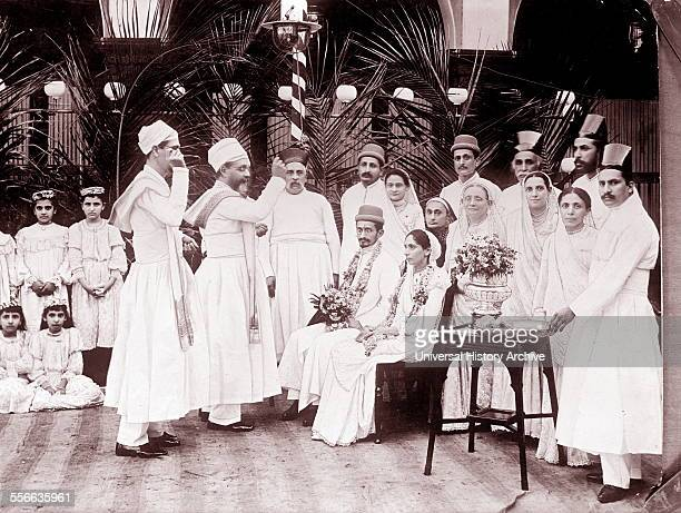 A Hindu wedding in India between 1909 and 1919