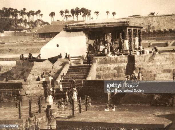 Hindus bathing in the sea Cape Comorin India 1936