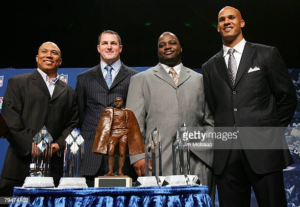 Hines Ward of the Pittsburgh Steelers Jason Witten of the Dallas Cowboys Brian Waters of the Kansas City Chiefs and Jason Taylor of the Miami...