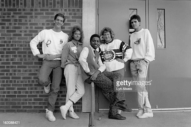 MAR 10 1988 Hinkley High School Partners in Prevention Workshops left to right Daniel Marshall Dawn Mackey Brent Martin Andrea Lewien Ghassan Timani