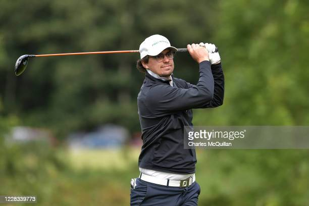 Hinrich Arkenau hits his drive off the 8th tee during day two of the Northern Ireland Open at Galgorm Spa & Golf Resort on September 4, 2020 in...