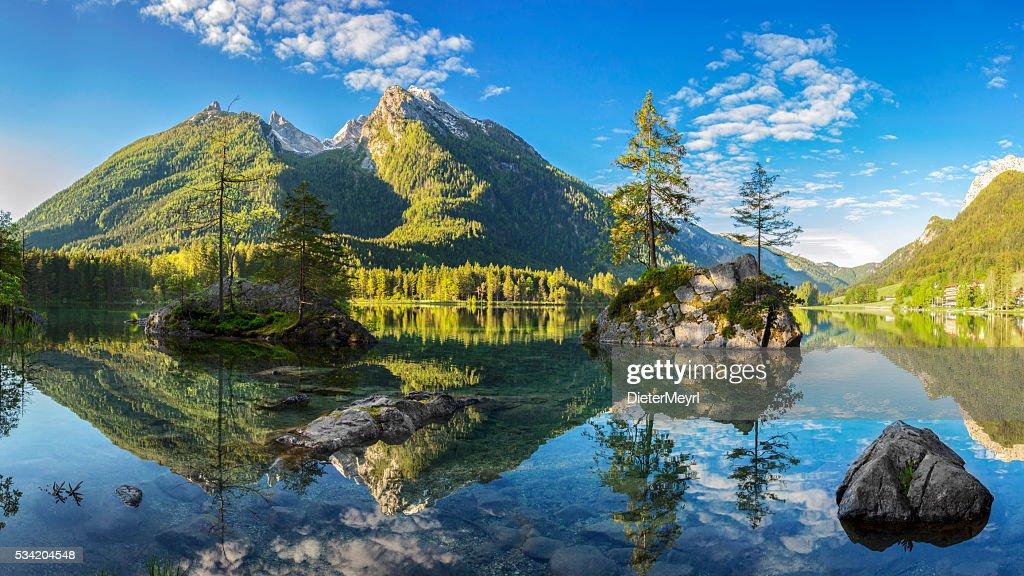 Hintersee - Bavarian lake in Berchtesgaden National Park : Stock Photo