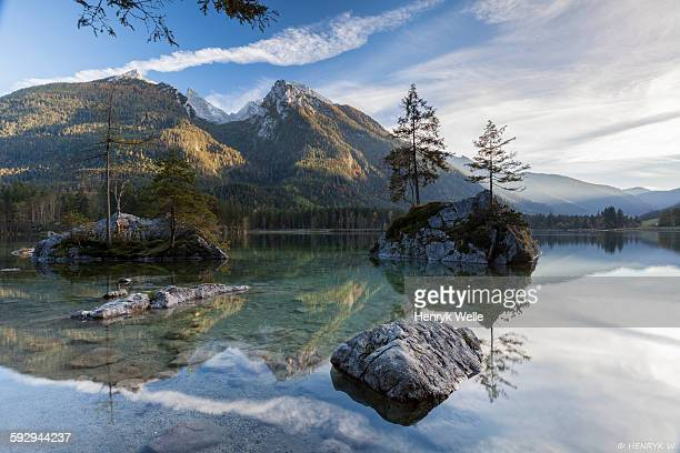 hintersee - berchtesgaden national park stock photos and pictures