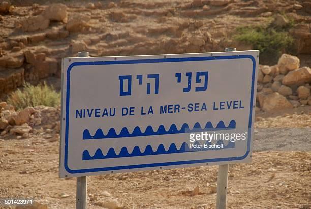 Hinweisschild Totes Meer Israel Naher Osten Asien Wüste Schild Reise BB DIG PNr 610/2008