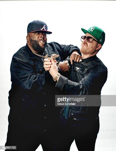Hip hop act Run the Jewels aka Killer Mike and ElP are photographed for the Guardian on December 5 2016 in Los Angeles California