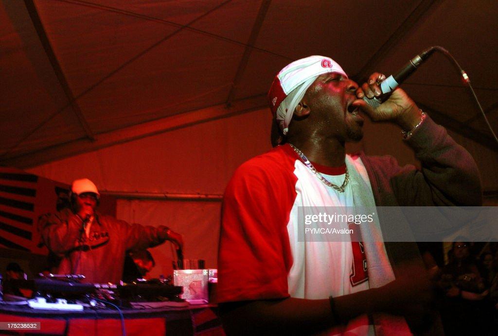 Hip Hop artist, Blak Twang, rapping, UK 2000s  News Photo
