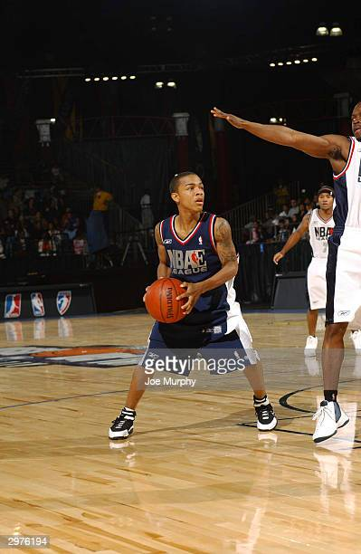 Hip Hop Artist Bow Wow in action at the NBA Entertainment League Game as part of the events of 2004 NBA AllStar Jam Session at Los Angeles Convention...