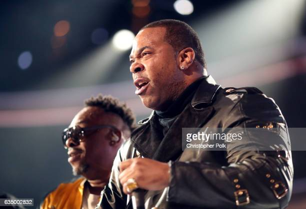 Hip Hop Artist Busta Rhymes during The 59th GRAMMY Awards at STAPLES Center on February 12 2017 in Los Angeles California