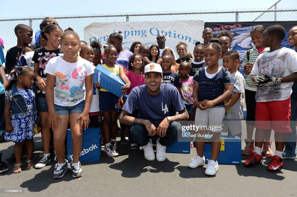 Hip Hop artist Chris Brown attends the 'WE