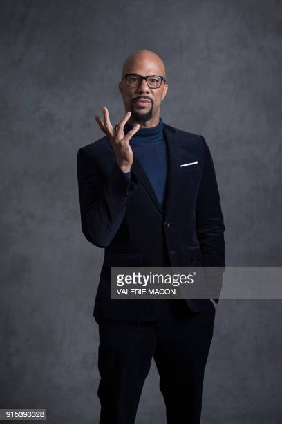 Hip hop artist Common poses for portraits during the Academy Awards annual nominees luncheon for the 90th Oscars at the Beverly Hilton California on...