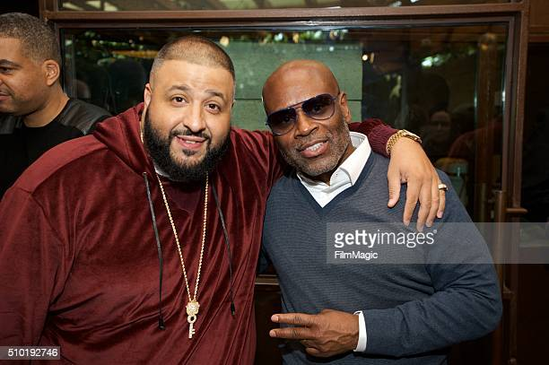 Hip Hop Artist DJ Khaled and Music Executive LA Reid attend the LA Reid 'Sing To Me' PreGrammy Brunch at Hinoki The Bird on February 13 2016 in Los...